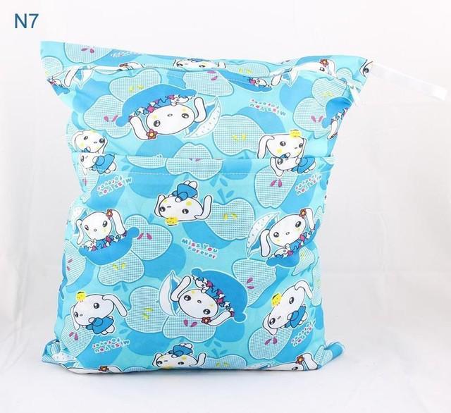 Мокрый сухой сумка с двумя молнии-ребенка пеленки мешок пеленки мешок водонепроницаемый ...
