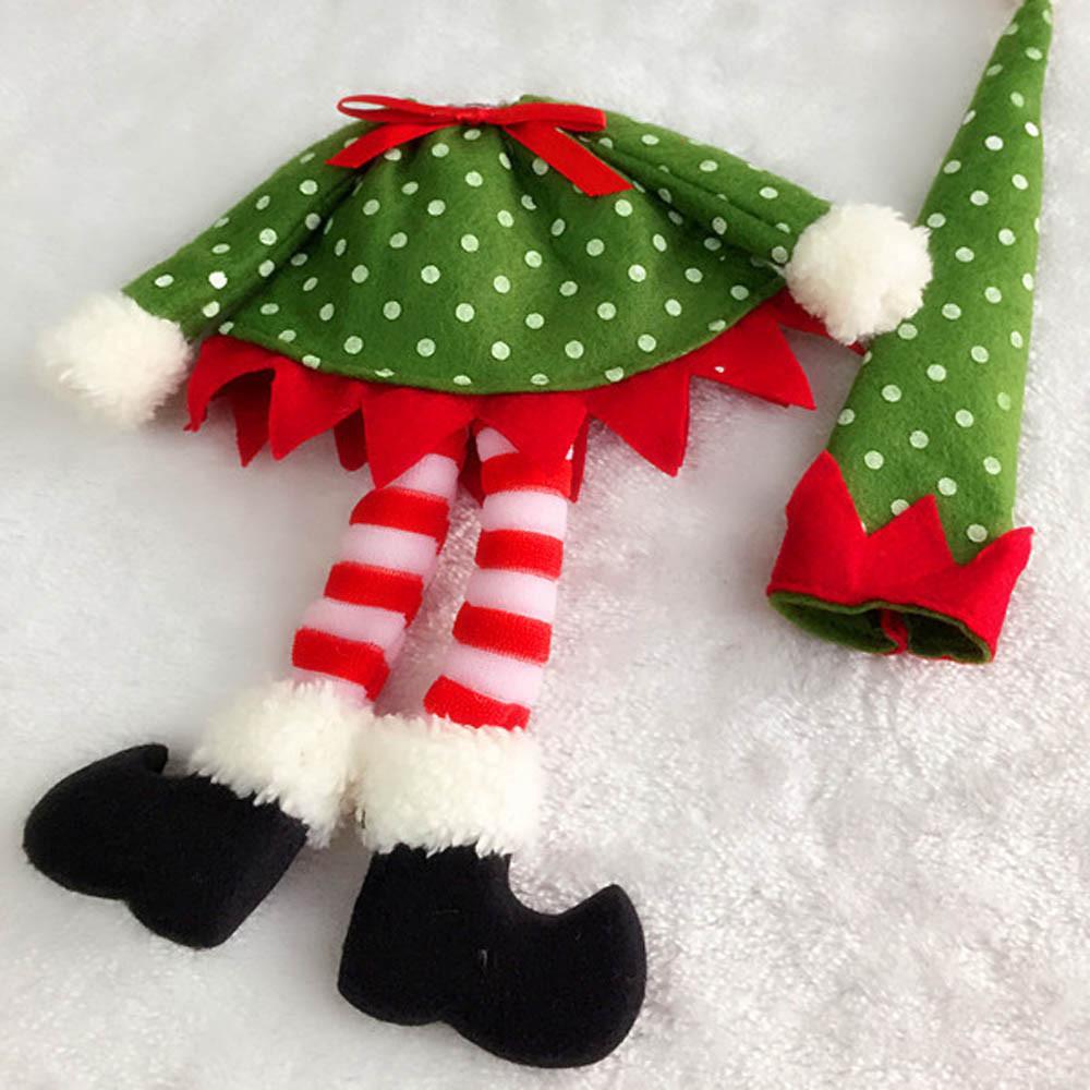 1 Peça Bonito Polka Dot Tampa de Garrafa de Vinho Sacos de Decoração de Mesa de Jantar Home Decorações Do Partido de Natal Decoração de Natal Suprimentos