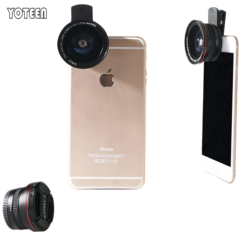 Universal Clip Aluminum Mobile Phone 0.6X Super Wide Angle Lens+ Macro Lens for iPhone 6 6 Plus iPad Samsung Clamp Phone Lens(China (Mainland))