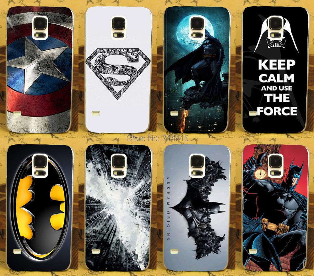 Hard Plastic Soft TPU Silicon Print Phone Case Cover Samsung Galaxy S5 SV I9600 G900 G900F Batman America Captain Bag - TAOYUNXI store
