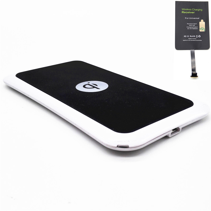 1 Set Qi Standard Ultra Slim Light Universal Qi Wireless Charger Charging Pad Mat + Android Universal Receiver Card Kit(China (Mainland))