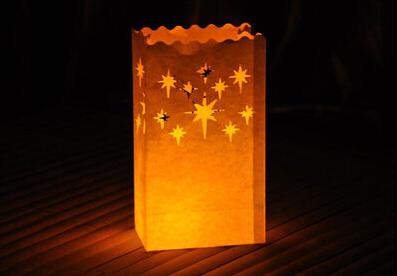 10pcs/lot Star Style Tea light Holder Luminaria Paper Lantern Candle Bag For Wedding BBQ Christmas Party Decoration Casamento(China (Mainland))