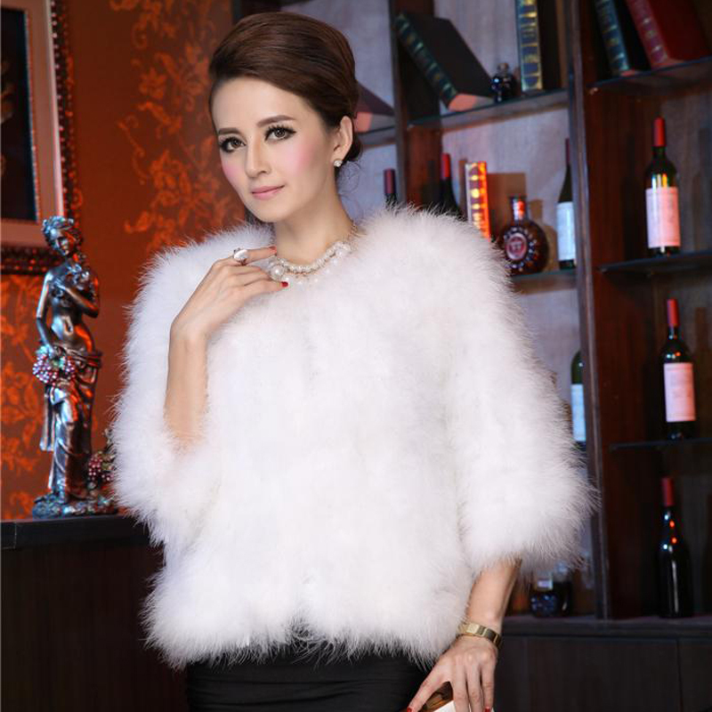 65cm Ostrich Fur Coat Women Natural Fur Overcoat Winter Fashion Low priceОдежда и ак�е��уары<br><br><br>Aliexpress