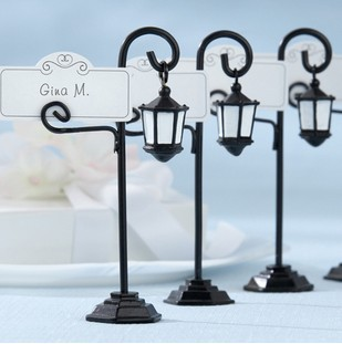 Bourbon Street Streetlight Wedding Place Card Holder Wedding Favors Gifts Party Accessory Decoration Supplies 10pcs/lot