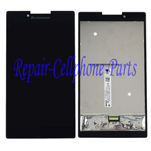 Black  LCD DIsplay + Touch Screen Digitizer Assembly For Lenovo Tab 2 A7-30 A7-30HC Free Shipping , 100% Tested(China (Mainland))