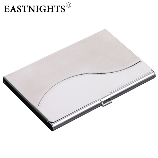 50pc /lot Factory Sale print laser logo Stainless Steel name card case business holder Promotion gift - Sun Shine Leather Co., Ltd. store