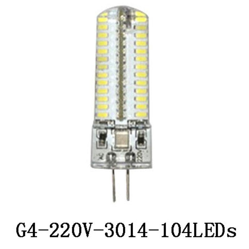 Гаджет  MOQ 10pcs G4 AC/DC 12V 3W LED Crystal Lamp Silicone Corn Bulb Droplight Chandelier COB 24 SMD 3014 Spot Light White 360 degree None Свет и освещение