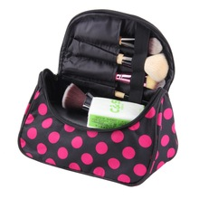 1pc New Dot Toiletry Bag Cosmetic Bag Cosmetic Case large capacity portable Women Makeup cosmetic bags storage travel bags(China (Mainland))