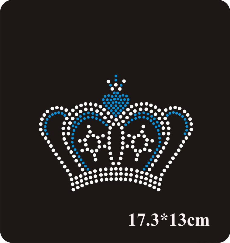 New crown design hot fix rhinestone for embellishment Rhinestone for garment Iron on patch(ss-5020)(China (Mainland))