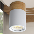 Wood Downlight LED Lights 3W Living Room Bedroom 90 260V Ceiling Lamps adjustable angle LED Indoor