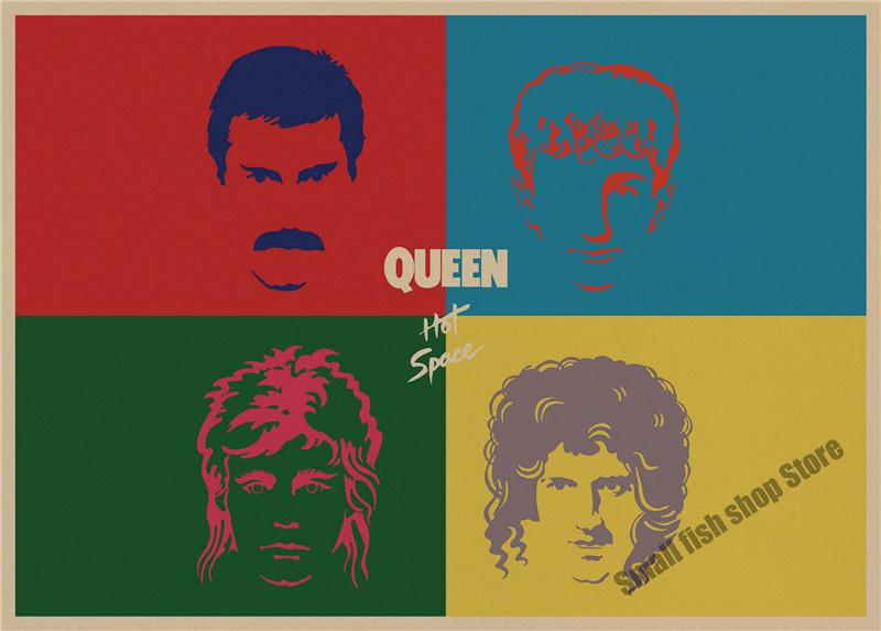 Queen retro Poster Retro Kraft Paper Bar Cafe Home Decor Painting Wall Sticker