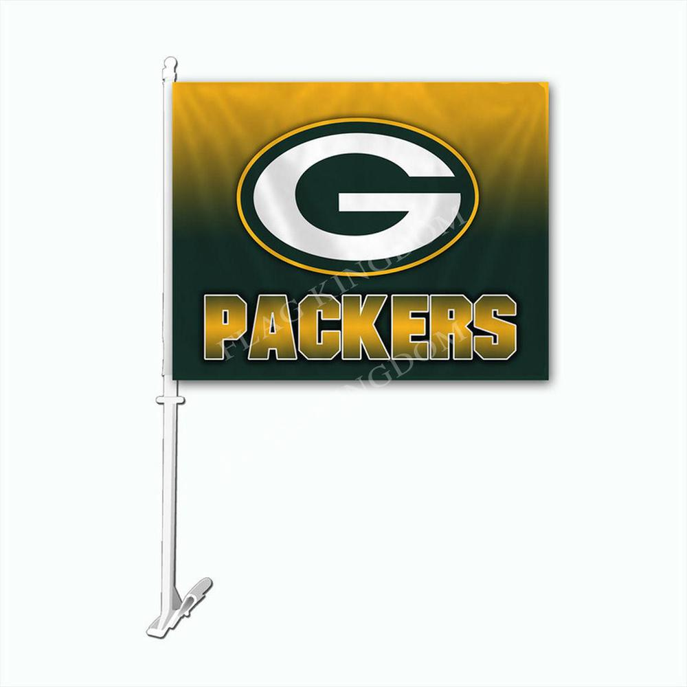 Green Bay Packers Ombre Printed Car Auto Window Flag(China (Mainland))