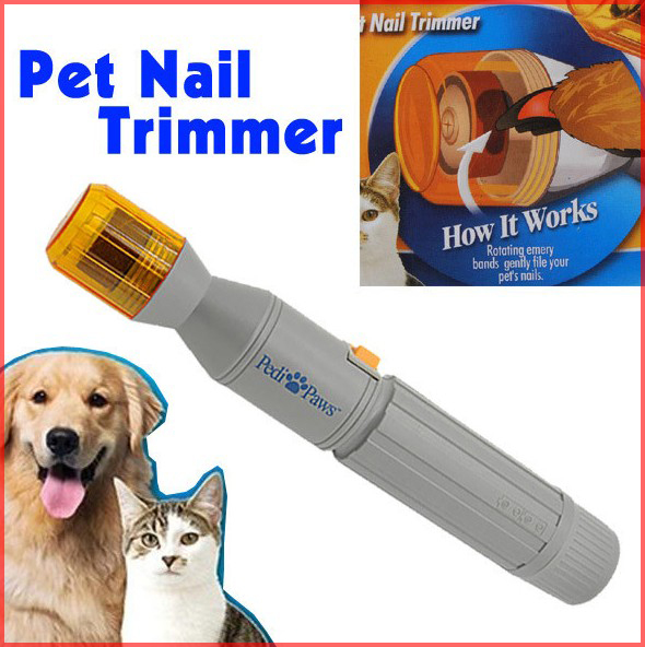 Pet nail clipper Pedi Painless Pet Dogs Cats Paw Nail Trimmer Cut Electric Pets Grinding Grooming Product(China (Mainland))