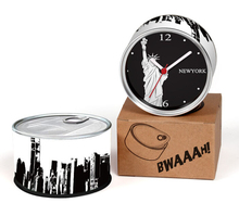 Only 6-10 Days Arrive To USA By E-Packet Air Shipping 2pcs/lot New York Clock Statue of Liberty Fridge Magnets Can Clock Gifts(China (Mainland))