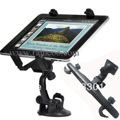 3 1 set car window holder + headrest holder, universal 7-10 inch tablet pc, ipad stand mount, retail packing - Raincoo Industrial Company Limited store