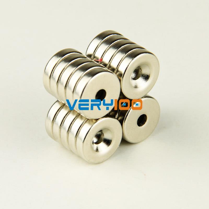 Гаджет  Lot 5pcs Strong Ring Counter Sunk Magnets 12mm x 3mm Hole 3mm Rare Earth Neodymium Free shipping None Строительство и Недвижимость