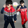 2016 new leisure suit boys Winter clothes for 3 13 year kids clothes thick three pieces