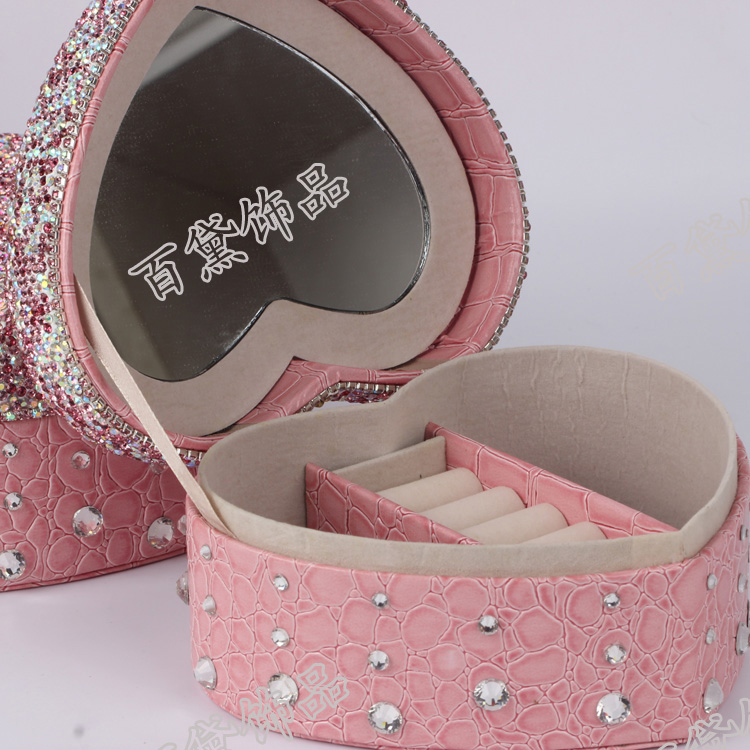 Diamond Jewelry Box Diamond stick cosmetic box jewelry box birthday gift to send girls to marry(China (Mainland))