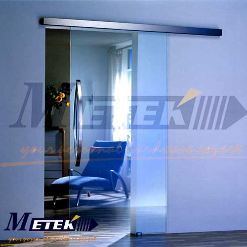 Frameless glass sliding barn door hardware(China (Mainland))