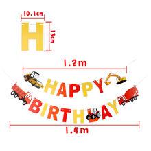 Furgonetki balon foliowy dekoracja na przyjęcie z okazji urodzin duży czołg pociąg samochody policyjne wóz strażacki balon dziecięcy chłopcy zabawka(China)