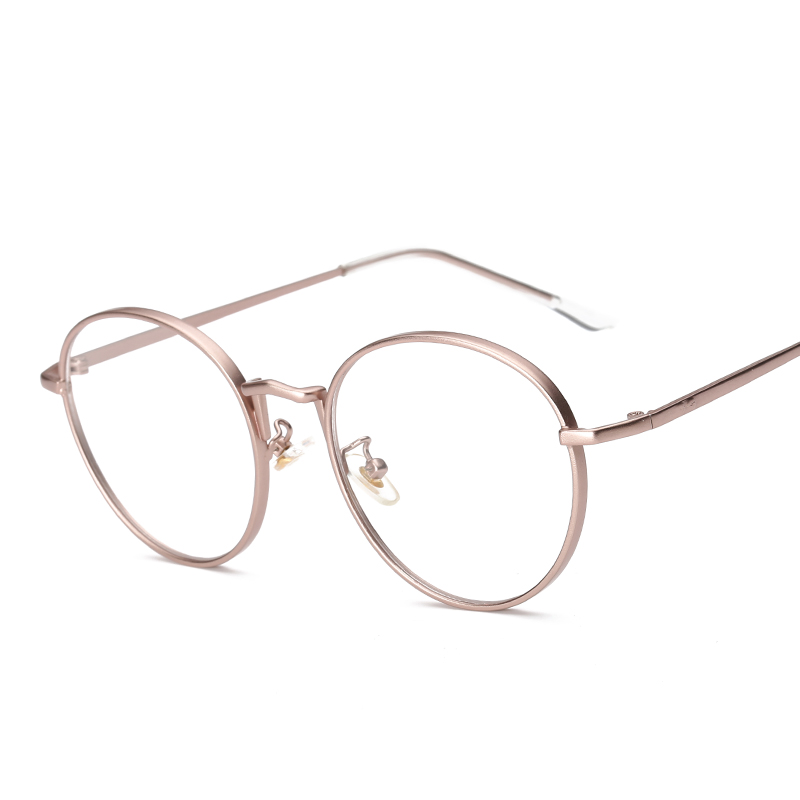 Women Eyeglasses Brand Designer Oval Rose Alloy Frame Print Women Optical Clear Len Glasses Unisex Eyeglasses Frames For Man
