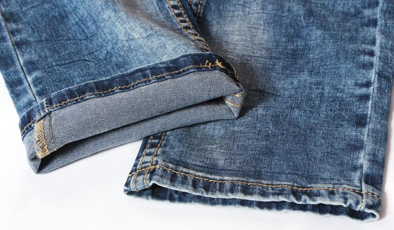Скидки на Taddlee Бренд Мужские джинсы 2016 slim fit джинсы Байкер джинсы Прямые Ноги брюки Промывают джинсы Полная Длина Брюки Грузов дизайнер