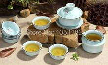 Eight pisce set ceramic longquan celadon tea cup kit high quality new Arrival Kung fu tea