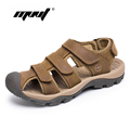 New Arrival Summer Men s Sandals High Quality Real Leather Mens Shoes Slippers Beach Walking Casual