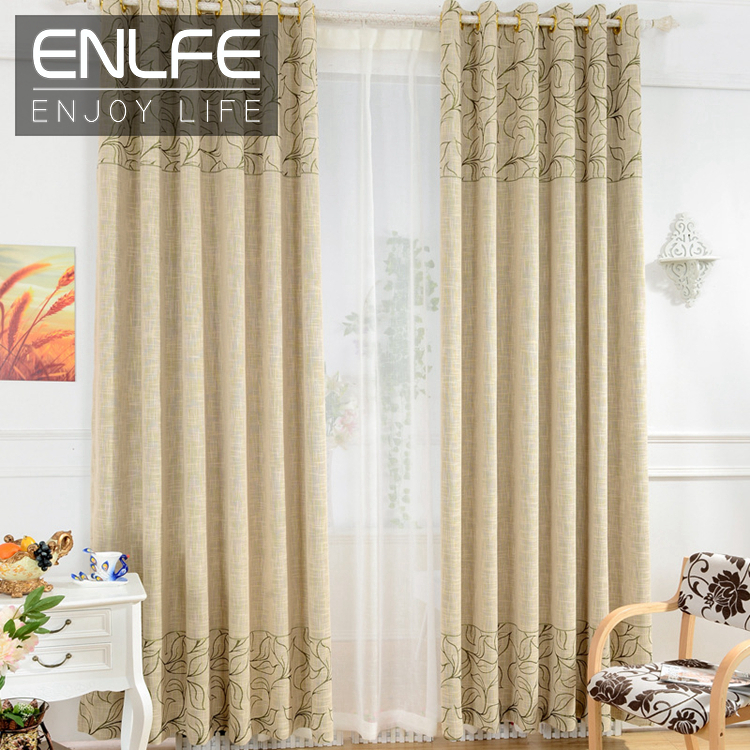 Enlfe on sale ready made window curtain set for living for Hotel drapes for sale