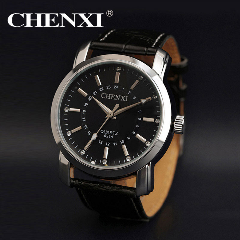 [Time Magic] Simple Quartz-Watches Leather Band Business Dress Watch for Mens 2016 New Luxury Casual Diamond Scale Wristwatch<br><br>Aliexpress