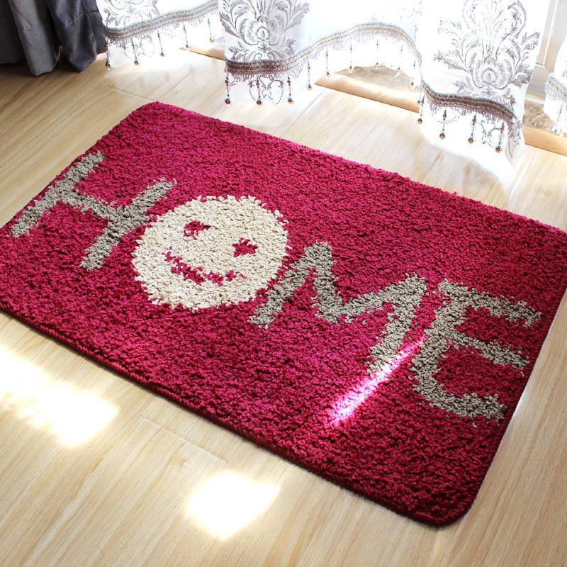 Thick Letters Plaid Print Living Room Carpet 40x60cm 50x80cm Wedding Mat Doormat Home Decoration - HOUSEHOLD-- Ellie Shao's store