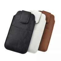 PU Leather Sleeve Pouch Waist Holster Cover For Huawei P10 Lite Case Universal Bags With Card Pocket Phone Cases Fundas