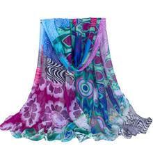 New Design Fashion Spain Style Brand Printing Women Scarves Shawls Voile Wholesale Foulard Femme Echarpe Longer Size:180*70cms(China (Mainland))