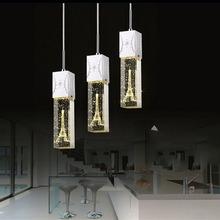 Eiffel Tower crystal pendant hanging lights modern romantic big crystal pendant lamps for wedding room dining room kids light(China (Mainland))