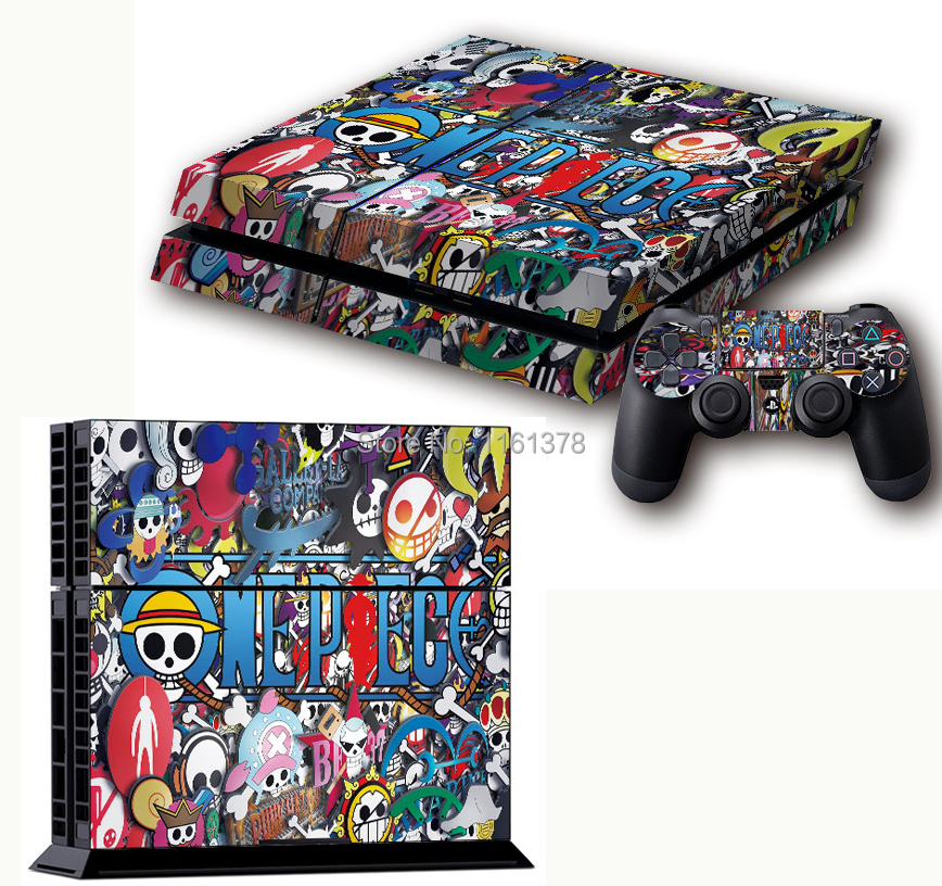 One Piece Game Graffiti Protective Decor Skin Sticker for SONY Playstation 4 Decal Stickers for PS 4 PS4(China (Mainland))