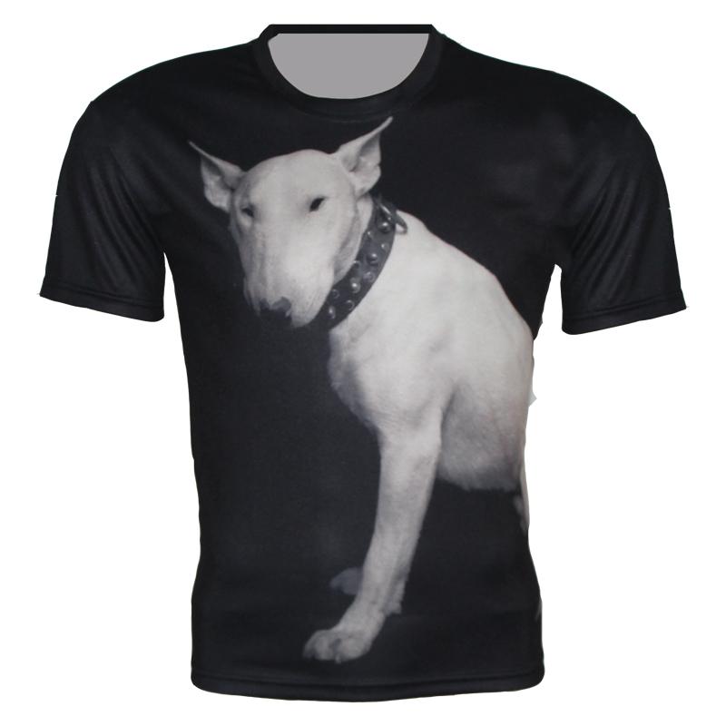New 2015 3D T Shirt For Women Men Brand Design T Shirt Animal Bull terrier Print T-Shirt Sport Dry Quickly Tops Plus Size XS-6XL(China (Mainland))