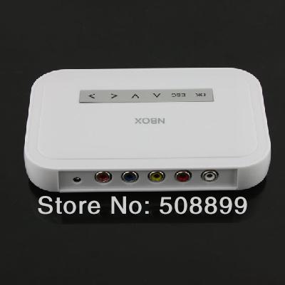 2015 New 1pcs NBOX Flash HDD USB SD Card Media Player RMVB MP3 AVI MPEG Divx USB HD Free Shipping(China (Mainland))