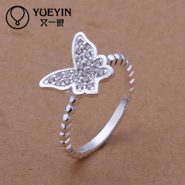 R207-8 2015 925 Sterling silver Han edition fashion accessories butterfly bright ring hot sale(China (Mainland))