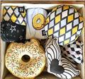 ins new Lovely Hold pillow doughnut bread pattern pillow Children room doll decorations Pure cotton gift