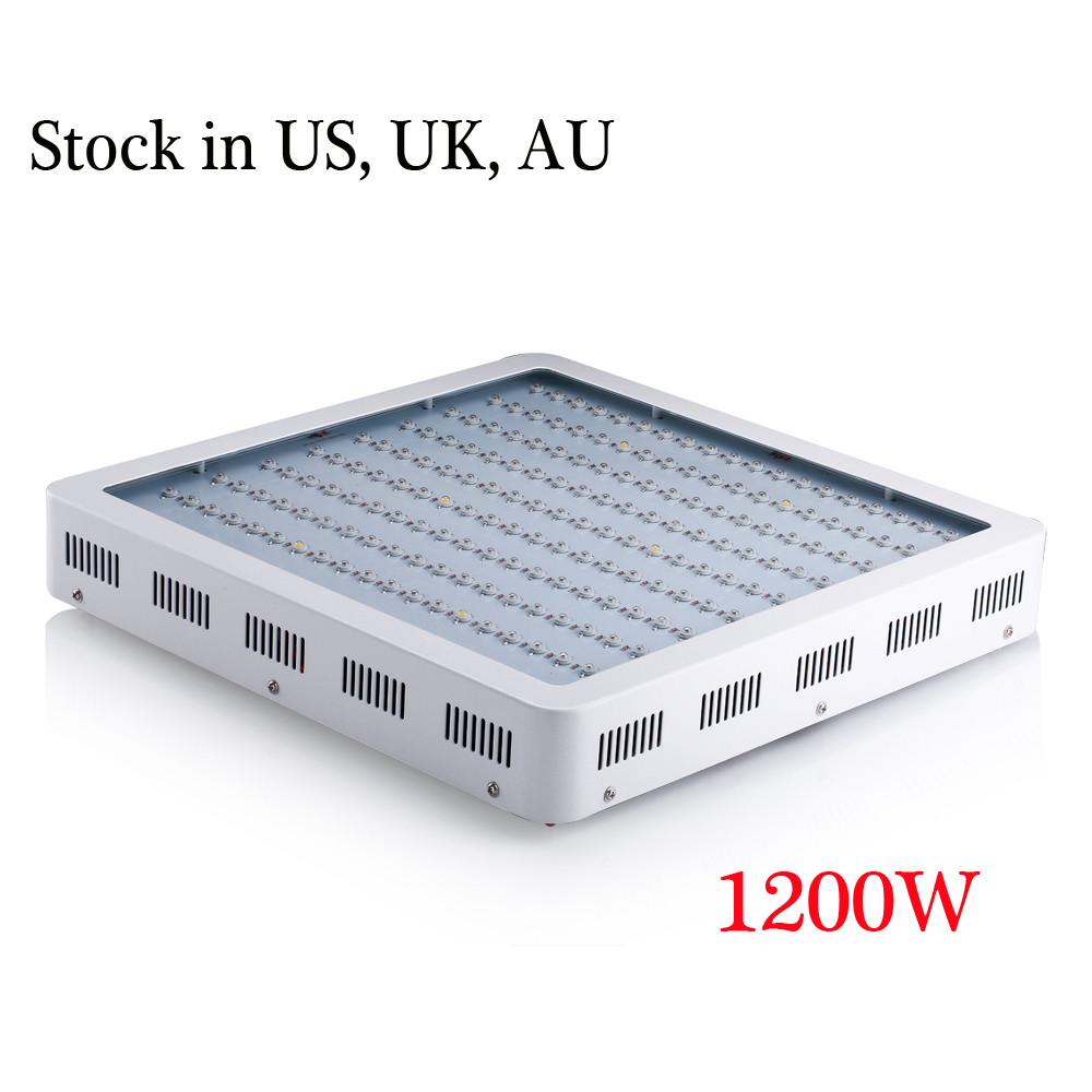 1200W LED Grow light Best full Spectrum IR,UV,RED,BLUE,ORANGE, WHITE For Flower Plants Grow and Flower AC85-265V free shipping(China (Mainland))