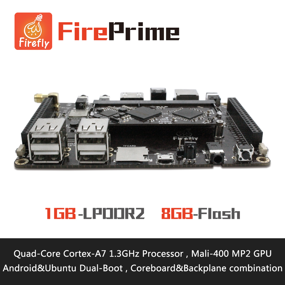 FirePrime - Quad-Core Cortex-A7 Processors Development Board , RK3128 , Support Ubuntu15.04 and Android5.1(China (Mainland))
