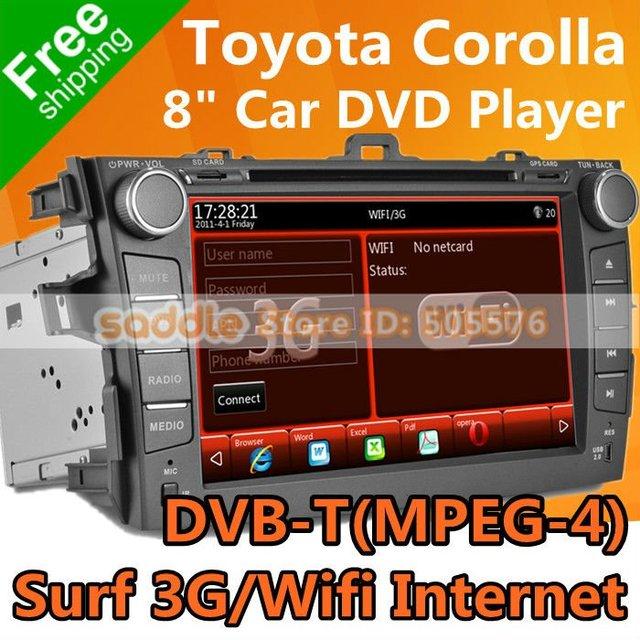TOYOTA COROLLA Car DVD with GPS Navigation DVB-T(MPEG-4) RDS iPod Bluetooth WinCE Wifi 3G ! TOYOTA COROLLA Car Radio Wholesale!