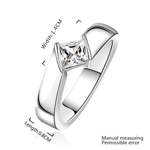 Wholesale Free Shipping 925 Silver Ring,925 Silver Fashion Jewelry Inlaid Stone Wedding Ring SMTR635