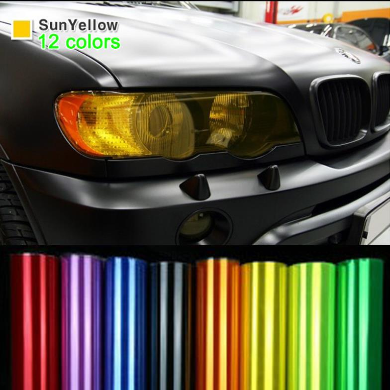 12 by 48 inches self adhesive car film sheet sticker fog lights tint vinyl film ebay. Black Bedroom Furniture Sets. Home Design Ideas