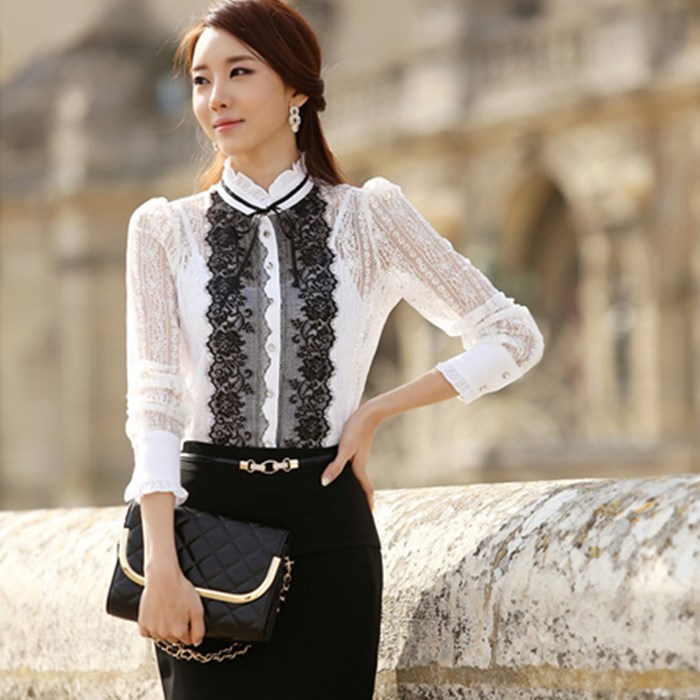 2015 spring patchwork three-dimensional decoration lace shirt spaghetti strap 6570# S-XL - Beautiful and Fashionable store