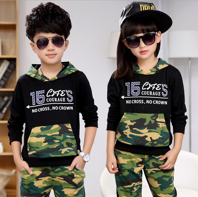 Children's Clothing Sets Boy Hoodied Clothes Set Child Male & Girls Camouflage Sports Suits Girl & Boys Tops + Pants Sport Suit кастрюли биол кастрюля казан 4 5 л с крышкой биол