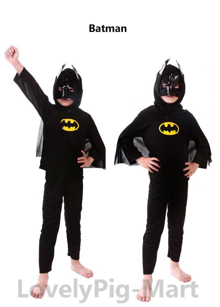 Гаджет  NEW Halloween Christmas Role play children Spiderman kids Superman Spider-man Batman suit boys girls clothing sets None Одежда и аксессуары