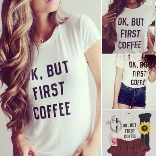 2015 new women summer graphic letter printed T-shirts short sleeve casual slim tops tee plus size(China (Mainland))