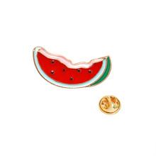 Apple Orange Pisang Strawberry Semangka Pine Apple Buah Kiwi Bros Kartun Kecil Lencana Enamel Tas Pakaian Kerah Pin(China)