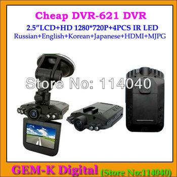 "new arrival in april Original DVR-621 Car camera recorder Full HD 720p  car dvr 2.5"" screen 120 degree angle"